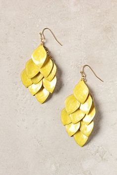 Banana Leaf Earrings - try in leather?