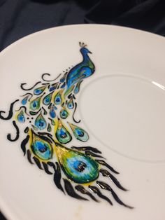 Peacock I Cup, Peacock, Plates, Tableware, Handmade, Mugs, Licence Plates, Dishes, Dinnerware
