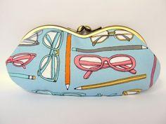 Soft Eyeglass Case - Cute Glasses Case Kiss Lock - Eye Glass Case - Sunglasses Case - Case for Glasses - Sunglass Case - Kiss Lock Purse by LuckyCatHandmade on Etsy