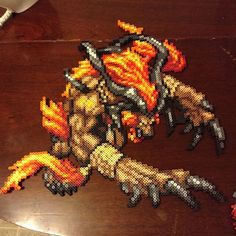 Ifrit Final Fantasy perler beads by perler_purrs