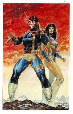 Cyclops and Jean Grey by Ardian Syaf