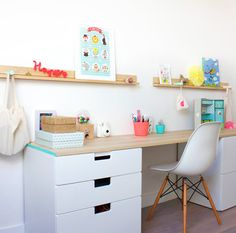 Home decor for Tweens: desks done right. A space they'll want to study in! #backtoschool