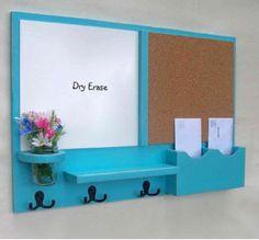 Dry erase board mail organizer