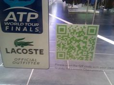 Creative uses of QR codes - having it placed on a door!