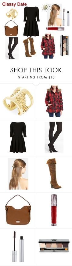 """""""Classy Date"""" by vivianrose-11 on Polyvore featuring BCBGMAXAZRIA, Express, France Luxe, City Classified, Nine West, Urban Decay, T. LeClerc, Bobbi Brown Cosmetics and Topshop"""