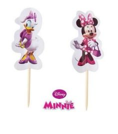Minnie Mouse and Daisy Duck Cupcake Picks Set of 12 * Get more discounts! Click the pin : Baking decorations