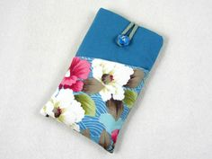 Smartphone sleeve, cellphone case, floral Iphone wallet, Fabric phone case, I… https://womenslittletips.blogspot.com http://amzn.to/2lkg9Ua