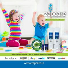 ZAPCARE ALCOHOL FREE SANITIZER, www.zapcare.in