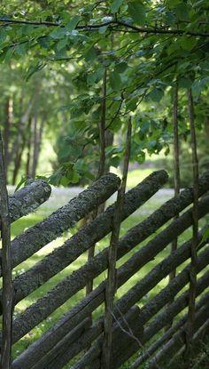 Gärdsgård i Småland, Sweden (fence build in an old way)