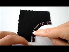 coser costura curva - YouTube
