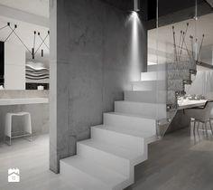 Dom B - projekt wnetrza - Schody, styl minimalistyczny - zdjęcie od Otwarte Studio Sztuka