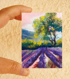 Original ACEO painting  Miniature art trading card by artbymarion