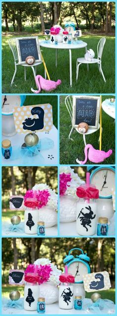 Create a Wonderland themed party quickly and easily by using items found at home and chalkboard labels