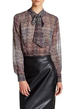 Long Sleeve Printed Blouse by Catherine Catherine Malandrino on @HauteLook