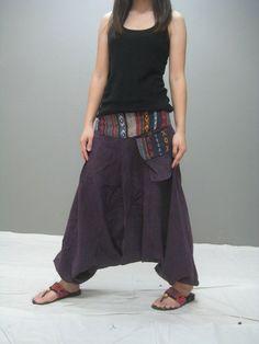Kostenloses Sarouel Schnittmuster - Free Sarouel Pattern - Harem pants: