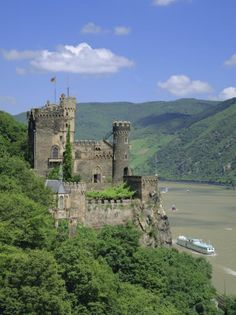 Reinstein Castle, one of 50 castles along the Rhine River in Germany.