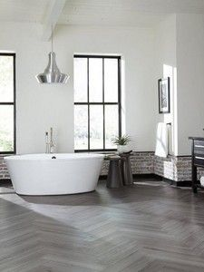 Explore Bathrooms Luxury Vinyl Tile, Luxury Vinyl Plank, Stone Look Tile, Polished Porcelain Tiles, Parts Of Stairs, Stone Backsplash, House Tiles, Vinyl Tiles, Commercial Flooring