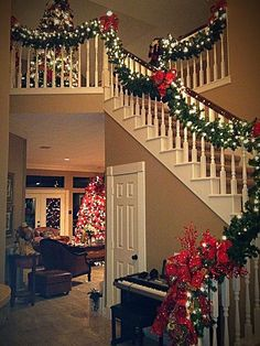 Here are the Christmas Stairs Decoration Ideas. This post about Christmas Stairs Decoration Ideas was posted under the Home Design