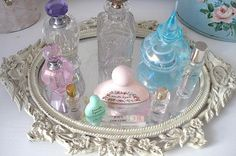 Perfume trays! I love the elegance of this! It would take up quite a bit of space, but I think it's worth it! :)