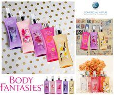 🌺🌹Llega a nuestras tiendas Body Fantasies un detalle para ti misma; varias fragancias con aromas revitalizantes para comenzar las mañanas, refrescantes durante el día y suaves y sensuales para la noche. Descubrelas todas¡¡¡