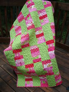 PDF QUILT PATTERN Sweet Cherry Lime Quilt pdf by thequiltingbabe, $8.99