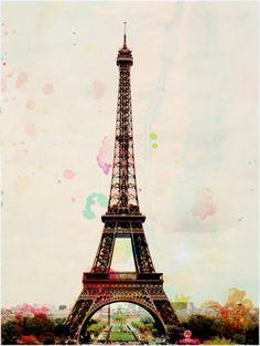 Aquarelle - Paris Eiffel Tower Photography Art Print. Leigh Viner. $28.00, via Etsy.