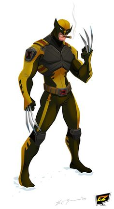 My take on Wolverine. Created using Adobe Flash CS6.