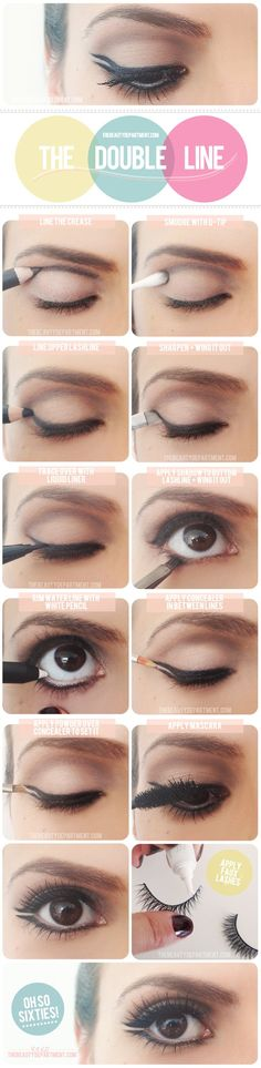 the double line. >> swear by liner in the crease.