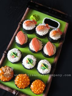 Sushi Mini Birthday Cakes
