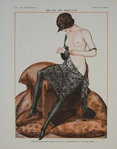 La Vie Parisienne - De Fil en Aiguille, 1921. Artist: Armand Vallée. Founded in 1863, La Vie Parisienne was originally designed to appeal to the upper-classes, offering literary pieces, society gossip and articles about the arts.