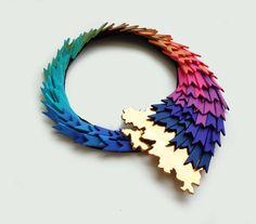 Necklace created by Raluca Buzura, Romania. http://www.dautor.ro/en/raluca-buzura. IN LOVE!