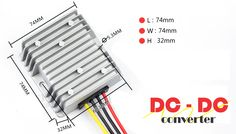 A DC-to-DC converter is an electronic circuit or electromagnetically device that converts a source of direct current (DC) from one voltage level to another.  It is a type of electric power converter. Power levels range from very low (small batteries) to very high (high-voltage power transmission).