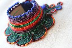 Sambucus Racemosa  beaded crochet bracelet by irregularexpressions