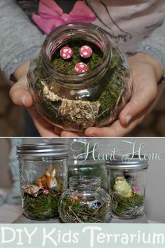 DIY Kids Terrarium ~ perfect to make with little ones