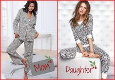 Mother/Daughter Fashionable Christmas pajamas. #fashion #Christmas #pajamas