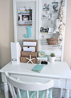 small space office craft rooms home decor home office urban living small space office Small Space Office, Small Spaces, Office Spaces, Small Workspace, Office Workspace, Work Spaces, Modern Spaces, My New Room, My Room