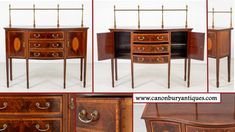 Antique Mahogany Sideboards Guide - Canonbury Antiques Antique Buffet, Antique Sideboard, Antique Cabinets, Antique Furniture Stores, Reproduction Furniture, Servers Furniture, Victorian Dining Tables, Mahogany Sideboard, Desk And Chair Set
