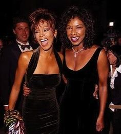 Whitney with Natalie Cole