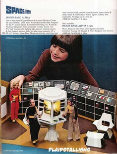 Space: 1999 Moon Base Alpha and Action Figures, c. 1976