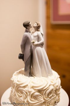 Our Brides Cake So Tasty By Cakes Gina Piece On Top Is Lladro