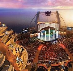 Aqua Theater at back of Allure of the Seas~ best week ever!!! I truly could LIVE on this ship!  This ship is AMAZING!