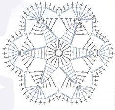 Beauty Crochet Pattern: STAR HEXAGONAL MOTIF FREE PATTERN