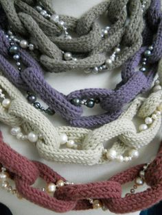 A collaboration between Shokay and Hazel and Marie... awesome mixture of fun accessories, soft fiber and polished pearls.