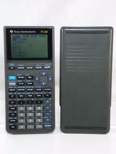 TI Texas Instruments TI-82 Graphing Calculator with Cover Works Spot on Screen #TexasInstruments
