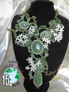 perlynka-ЖЕМЧУЖИНКА: участвую в битве BOTB15 на ФБ Jewelry Art, Beaded Jewelry, Unique Jewelry, Handmade Jewelry, Beaded Necklaces, Jewlery, French Beaded Flowers, Bead Crafts, Beaded Embroidery