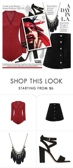 """""""Yoins 26:Street Style"""" by pokadoll ❤ liked on Polyvore featuring mode, Gianvito Rossi, ESPRIT et yoins"""