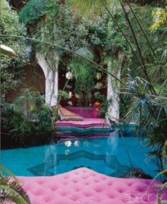 I could spend days here. so relaxing! Moroccan Garden.