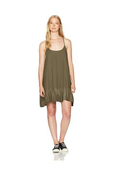 (This is an affiliate pin) Volcom Women's Simple Things Allover Print Strappy Cami Dress