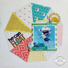 He Can Float scrapbook layout by Becki Adams for Scrapbook Expo - Weekly Scrapper
