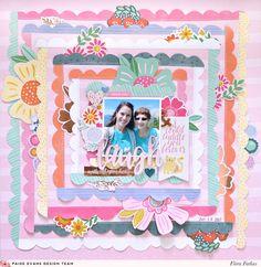 Laugh - Pink Paislee Paige Evans DT - Scrapbook.com